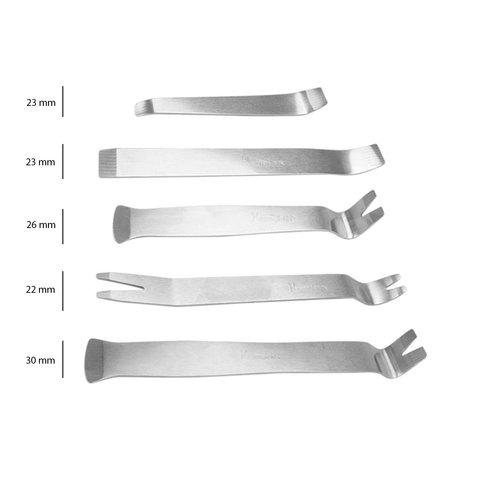 Набор инструментов для снятия обшивки (сталь, 5 предметов) Превью 2