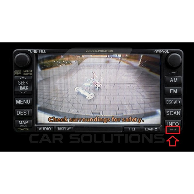 camera connection cable for toyota mfd gen5/gen6 dvd navi monitors