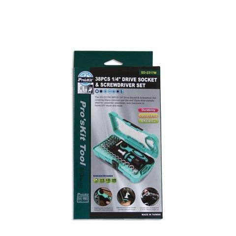 Набір біт з тріскачкою та ключем ProsKit SD-2317M Прев'ю 6