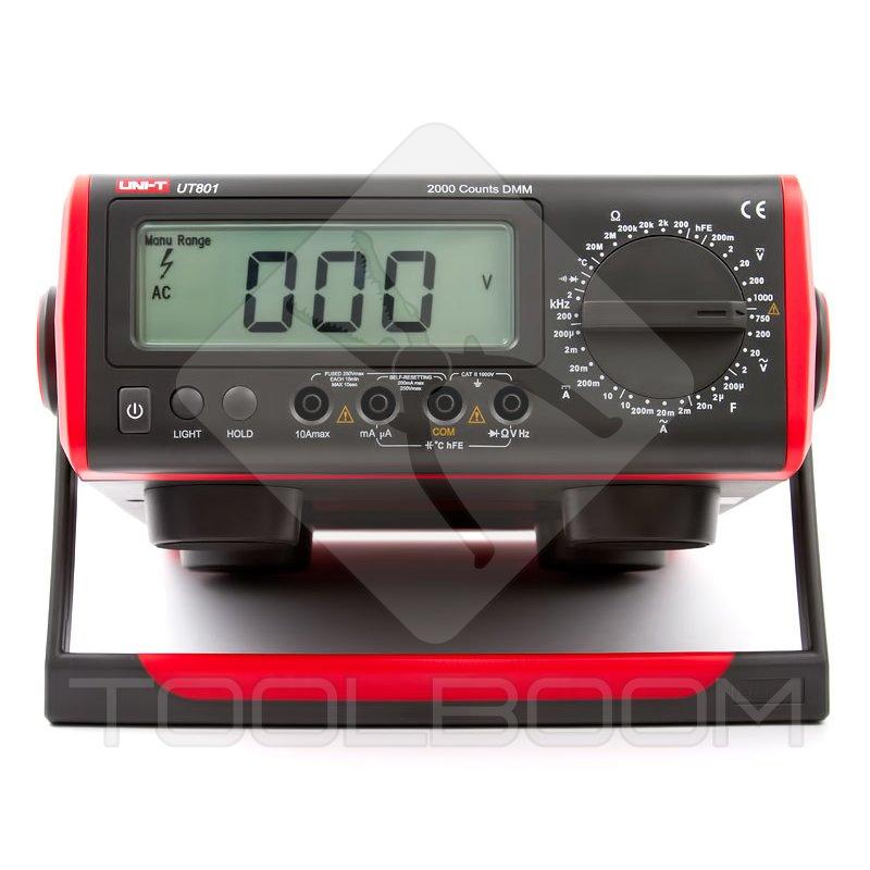 Digital Bench Multimeter Uni T Ut801 Multimeters Measuring Equipment Toolboom Online Store