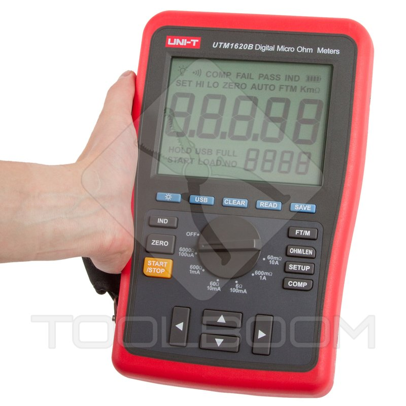 Digital Ohm Meter : Digital micro ohm meter uni t ut b multimeters