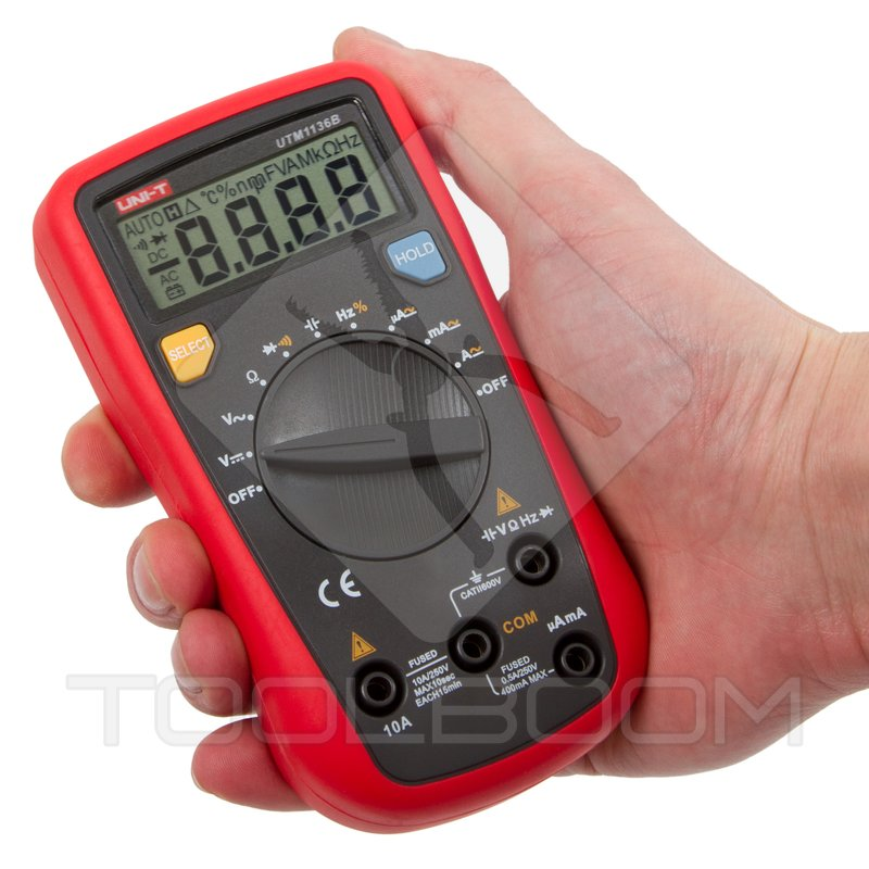 Uni T Multimeter Digital : Digital multimeter uni t ut b multimeters measuring