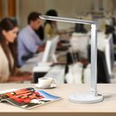 TaoTronics TT-DL13 Dimmable Rotatable Shadeless LED Desk Lamp, Silver, EU