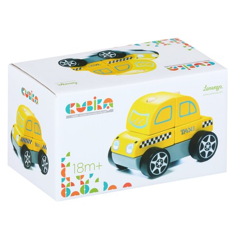 Wooden Construction Set CUBIKA Taxi LM-6